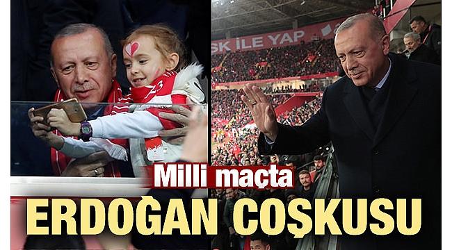 Başkan Erdoğan 2020 UEFA Avrupa Futbol Şampiyonası Elemeleri'ndeki Türkiye - Moldova maçını izledi..