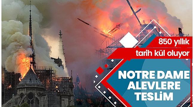 Son dakika... Notre Dame Katedrali'ndeki yangın 8,5 saat sonra söndürüldü.