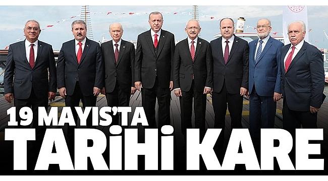 Başkan Erdoğan 19 Mayıs'ın 100. yıldönümünde Samsun'da halka seslendi.