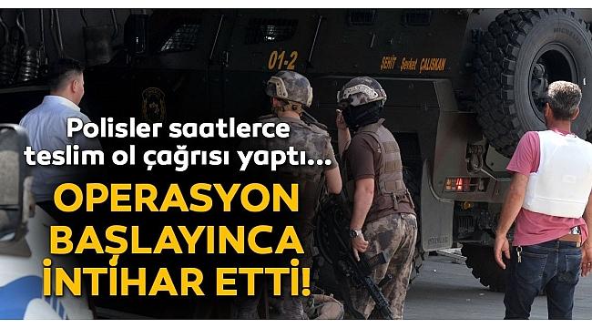 Adana'da Bekçiyi rehin alan cezaevi firarisi, polis operasyona başlayınca intihar etti..