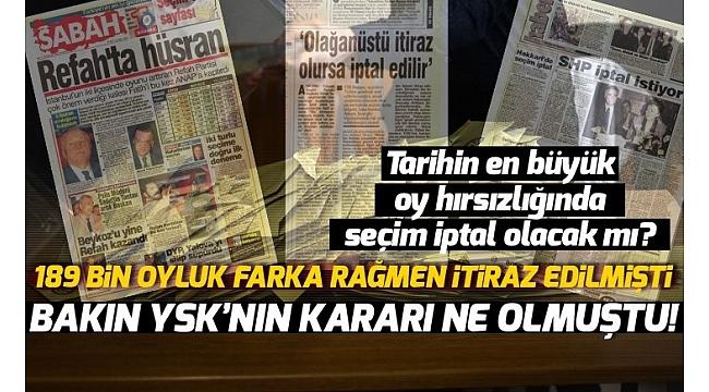 SHP, İstanbul ve Ankara'yı kaybetti, tüm Türkiye'de seçimin iptalini istedi!.