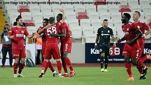 Beşiktaş, deplasmanda Sivasspor'a 3-0 mağlup oldu