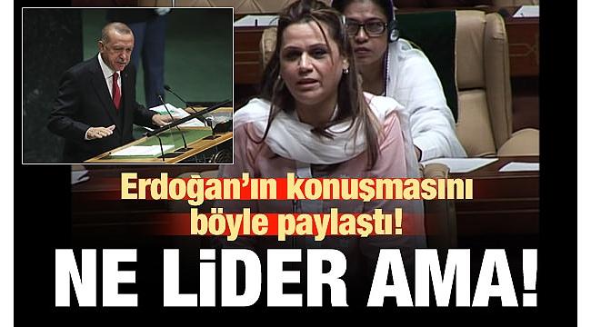 Pakistanlı bir politikacı, Başkan Erdoğan'ın konuşmasını böyle paylaştı: Ne lider ama!...