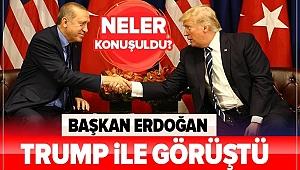 Son dakika: Başkan Erdoğan, Trump ile görüştü....