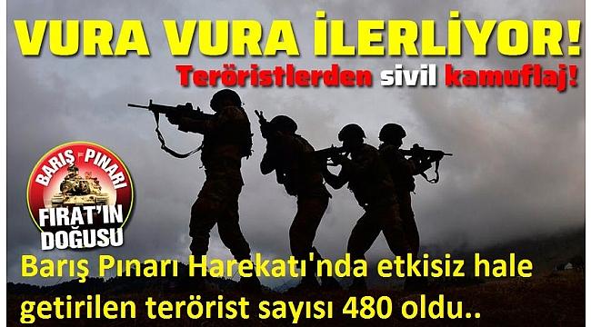 Barış Pınarı Harekatı'nda 5. gün: Resulayn kontrol altında (Etkisiz hale getirilen terörist sayısı 480 oldu..