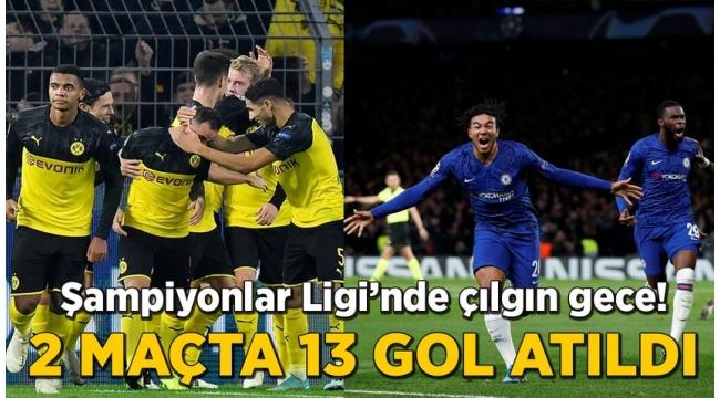 Şampiyonlar Ligi'nde gecenin özeti:Chelsea,Ajax,Inter,Dortmund,2 maçta 13 gol atıldı...