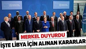 Merkel'den Libya açıklaması: Anlaştık..