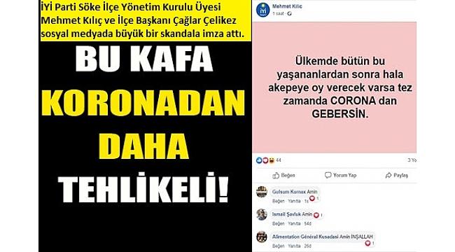 Bu kafa koronavirüsten daha tehlikeli. İYİ Partililerden skandal paylaşım!..