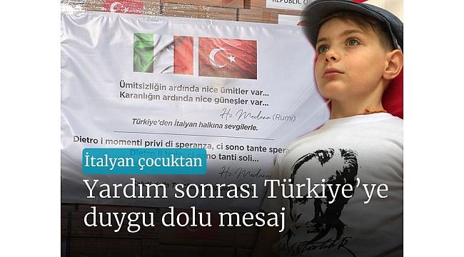 İtalyan çocuktan tıbbi yardım sonrasıTürkiye'ye duygu dolu mesaj.