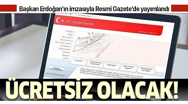 Son dakika: Başkan Erdoğan imzaladı:Koronavirüstedavisi ücretsiz yapılacak!