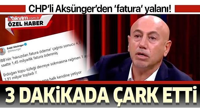 CHP'li Erdal Aksünger Başkan Erdoğan'a iftira atmak isterken rezil oldu.