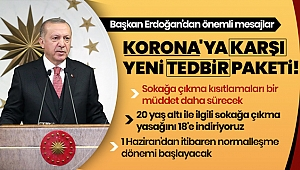 Son dakika: Başkan Erdoğan: 1 Haziran itibariyla şehirlerarası seyahat kısıtlaması kaldırılıyor.