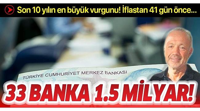 33 bankayı 1.5 milyar TL dolandırdı! Organize vurgun....