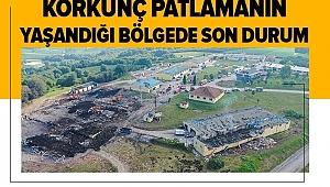 Son dakika!Sakarya'daki fabrika görüntüleri patlamanın şiddetini ortaya çıkardı!.