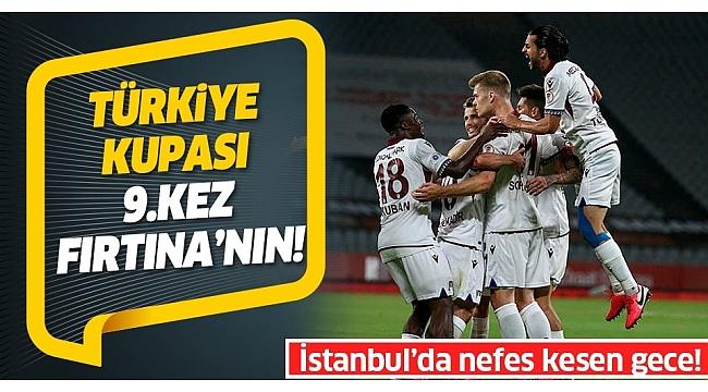 Trabzonspor Alanyaspor'u 2-0 yenerek Türkiye Kupası'nı kazandı.