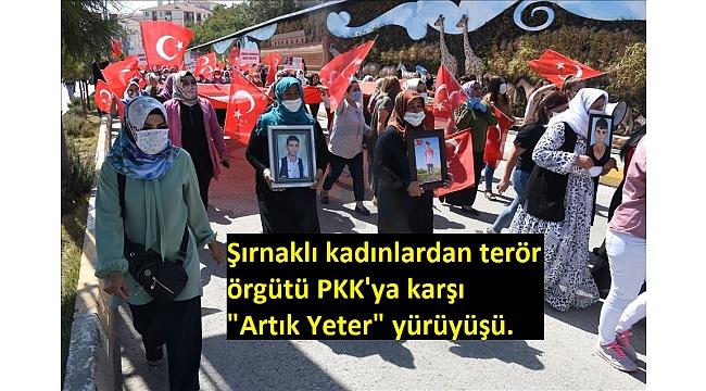 Şırnaklı kadınlardan terör örgütü PKK'ya karşı