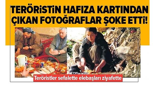 SON DAKİKA:PKK'lı teröristler sefalette Kandil'deki elebaşları ziyafette.