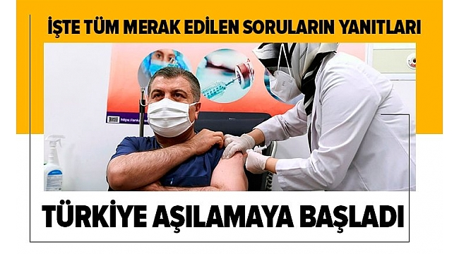 Son dakika haberi: Sağlık Bakanı Fahrettin Koca canlı yayında koronavirüs aşısı yaptırdı