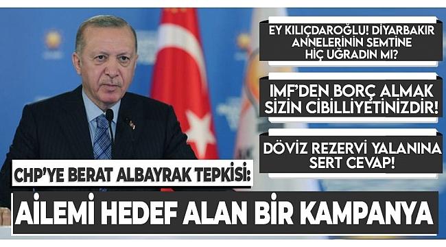 SON DAKİKA: Başkan Erdoğan'dan CHP'yeBerat Albayraktepkisi: Bu iş ailemize saldırı boyutunda!