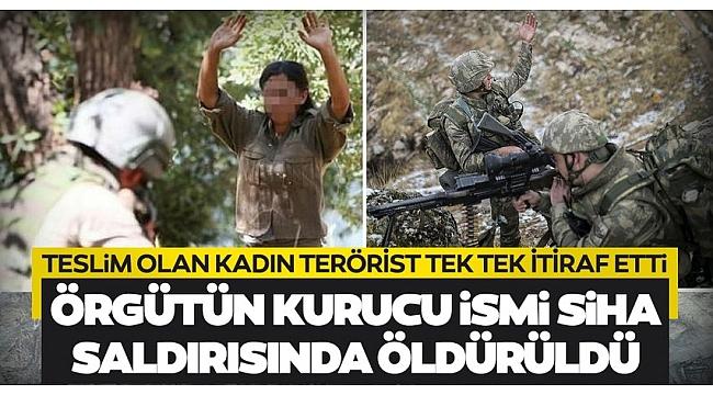 Son dakika: Teslim olan kadın teröristten ibretlik itirafları!PKK'nın kurucu ismi SİHA saldırısında öldürüldü