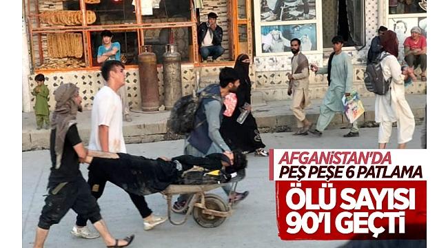 AfganistanKabil'deki terör saldırılarında bilanço ağırlaşıyor! 90 ölü 150 yaralı