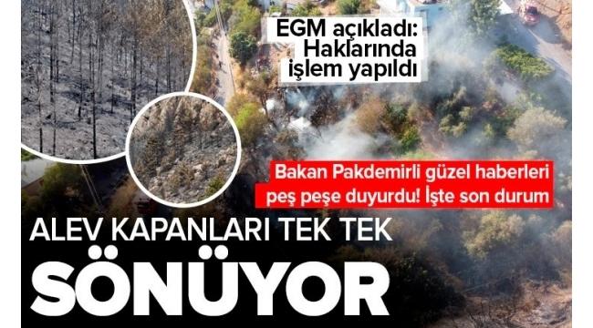 SON DAKİKA:Türkiye'de orman yangınlarında son durum! 112 orman yangınından 102'si kontrol altına alındı! EGM'den flaş açıklama