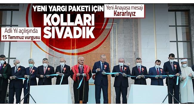 Son dakika: Başkan Erdoğan2021-2022 Adli Yıl Açılış Töreni'nde konuştu: Yeni Yargı Paketi için kolları sıv adık