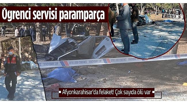 Afyonkarahisar'ın İscehisar ilçesinde öğrenci servisi devrildi: 5 ölü