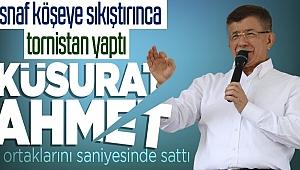 Vatandaşlardan Ahmet Davutoğlu'nu Kayseri'de köşeye sıkıştıran sözler!